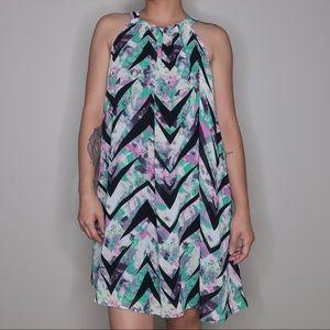 High Neck Flowy Dress Large